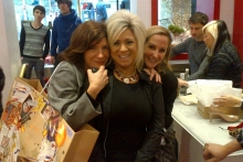 Me Courtney and my fab dress designer Michele Emanuele