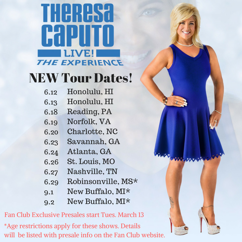 Theresa Caputo Live Tour Dates