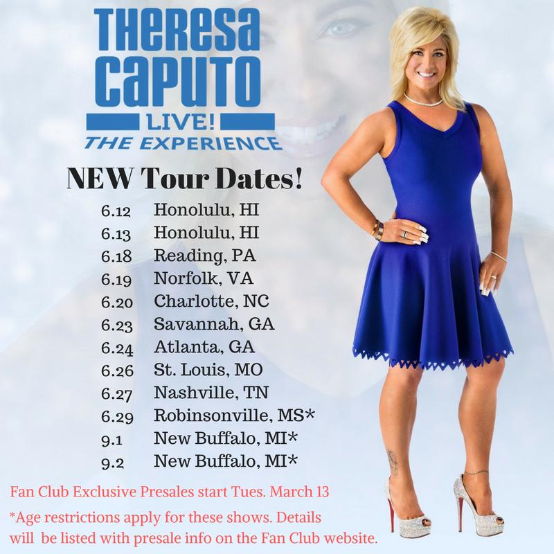 Theresa Caputo Long Island Medium Tour Dates